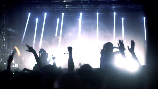 concert crowd - techno music stock videos & royalty-free footage