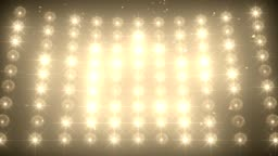 Concert light wall with falling confetti background