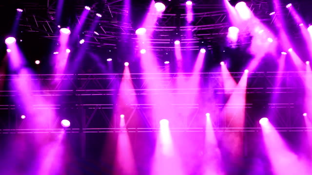 concert lighting - purple stock videos and b-roll footage