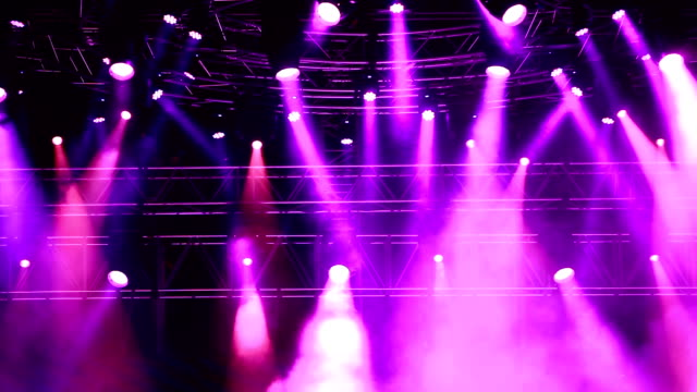concert lights - purple stock videos & royalty-free footage