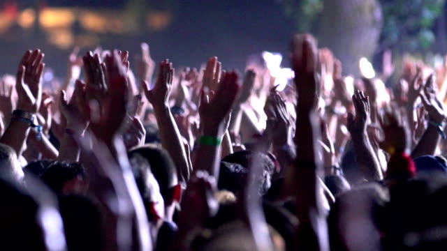 concert party applause. - arms raised stock videos & royalty-free footage