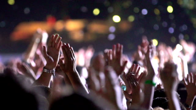 concert party applause. - estatico video stock e b–roll