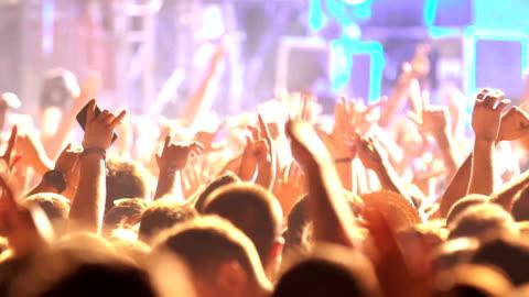 concert part applåder. - nattklubb bildbanksvideor och videomaterial från bakom kulisserna
