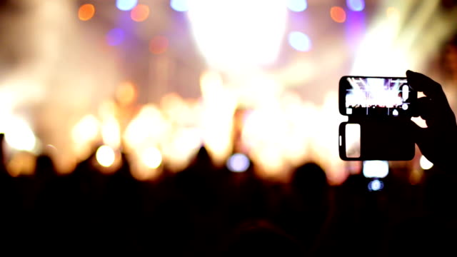 concert recorded mobile phone - engraved image stock videos and b-roll footage