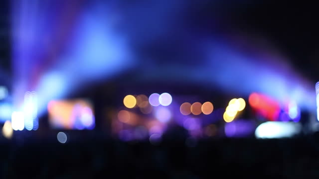 concert show in the night. - circular strobe stock videos and b-roll footage
