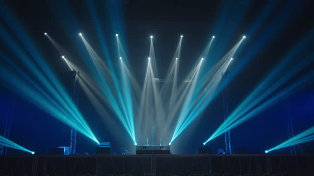 concert stage light effect. - theatrical performance stock videos & royalty-free footage