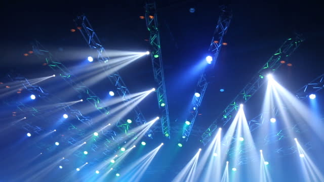 concert stage lighting - arts culture and entertainment stock videos & royalty-free footage