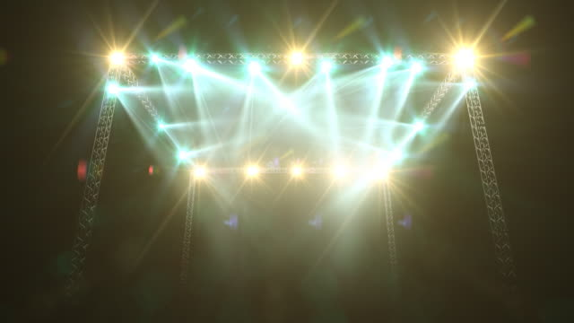 concert stage lights and flare - concert stock videos & royalty-free footage