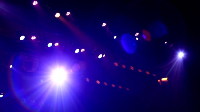 concert stage lights - stage light stock videos & royalty-free footage