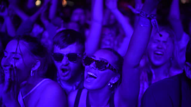 concert-goers enjoy a non-socially distanced outdoor live music event at sefton park on may 2, 2021 in liverpool, england. the event is part of the... - outdoors stock videos & royalty-free footage
