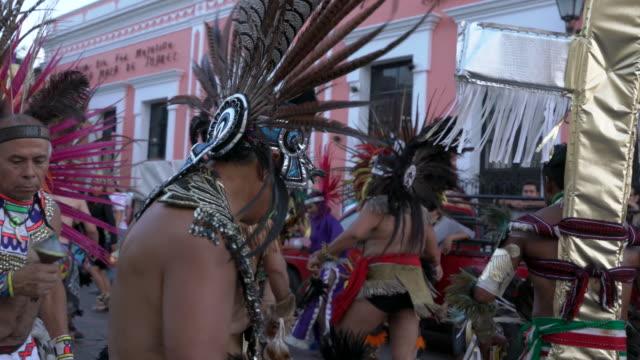 Concheros Aztec dancing in Queretaro