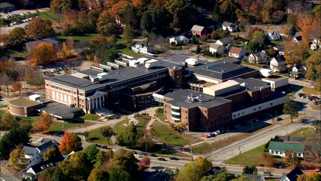concord high school  - aerial view - new hampshire,  merrimack county,  united states - new hampshire stock videos & royalty-free footage