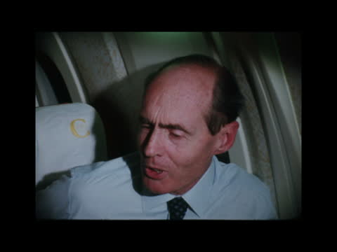 concorde commercial service starts:; england: lap: int plane lap seen through window at take-off cabin featuring henry marking cms prince edward,... - commercial aircraft stock videos & royalty-free footage