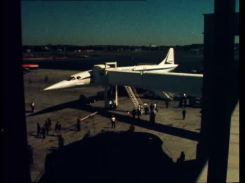 paris to boston usa massachusetts boston ms lands lr lr to bv 'air france' on portside 'british airways' on starboard' bv spectators with binoculars... - 1974 stock videos & royalty-free footage