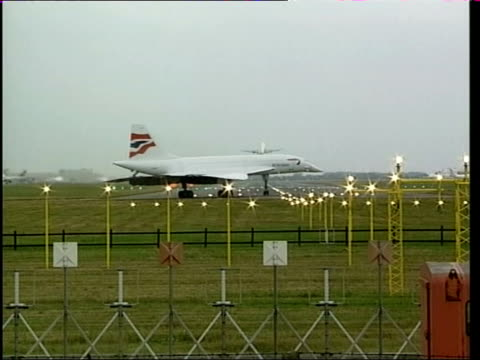 Investigation launched ITN British Airways concorde taxiing Concorde taking off