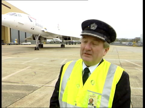 concorde to be taken out of service for good itn london heathrow airport mike bannister interview sot very tough decision to make but it's the right... - british aerospace concorde stock videos and b-roll footage