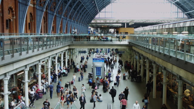 Concourse in London St Pancras International Station