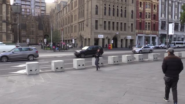 Concrete barriers on Federation Square and Bourke Street seen as Australia tightens security against possible terror attacks on June 14 2017