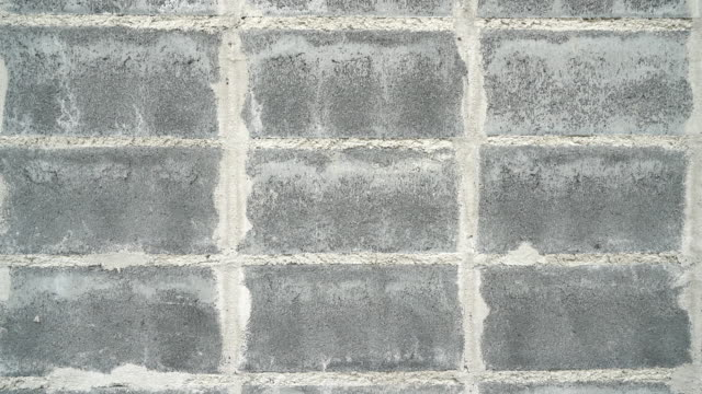 Concrete block wall.