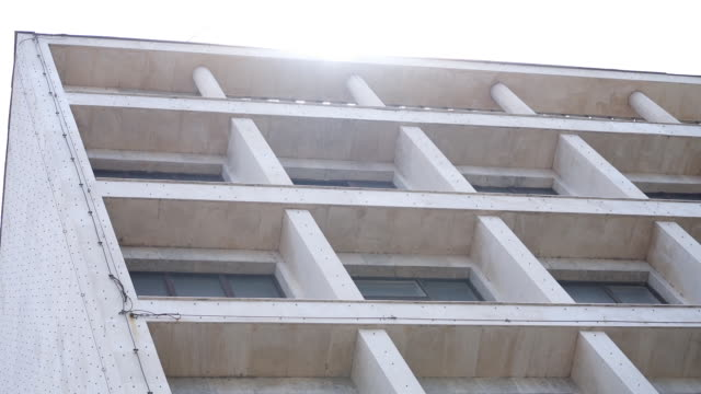 concrete building - facade stock videos and b-roll footage
