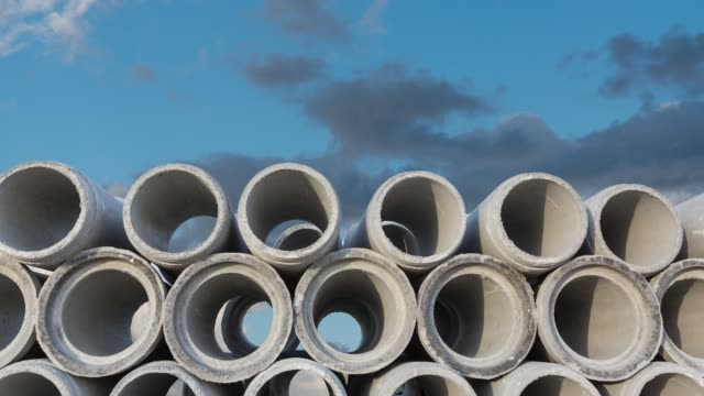 concrete pipe - concrete stock videos & royalty-free footage