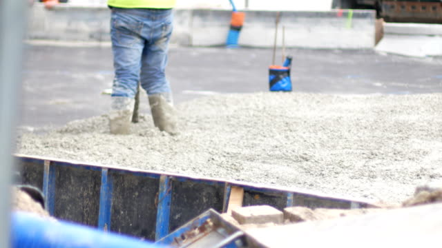 concrete, screed, construction, road - cement mixer stock videos and b-roll footage