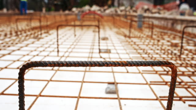 Ds Concrete Steel Wire Mesh Laid At The Building Site Stock