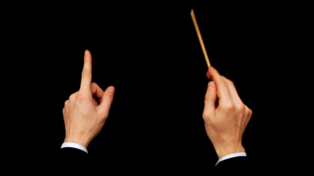 conductor hand - directing stock videos & royalty-free footage