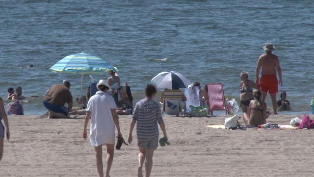 Coney Island Beach, Sunbathers, Summer Heat Wave