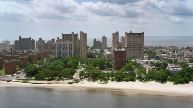 aerial coney island, new york - coney island stock videos and b-roll footage