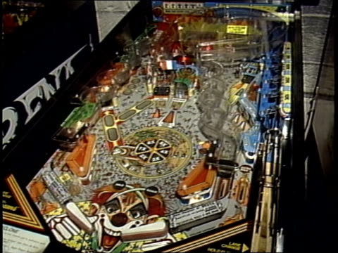 coney island themed pinball machine - pinball machine stock videos & royalty-free footage
