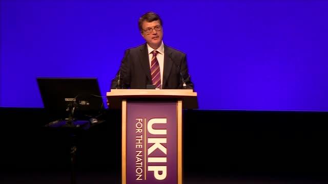 Gerard Batten speech ENGLAND West Midlands Birmingham INT Gerard Batten MEP speech SOT on UKIP as an electoral threat on Theresa May's Brexit...