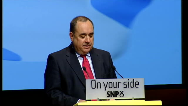 alex salmond extends scheme to help firsttime house buyers alex salmond msp speech sot who allowed the spivs and speculators of the 40 trillion... - scottish national party stock videos & royalty-free footage