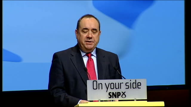 alex salmond extends scheme to help first-time house buyers; alex salmond msp speech sot - who allowed the spivs and speculators of the forty... - weapons of mass destruction stock videos & royalty-free footage