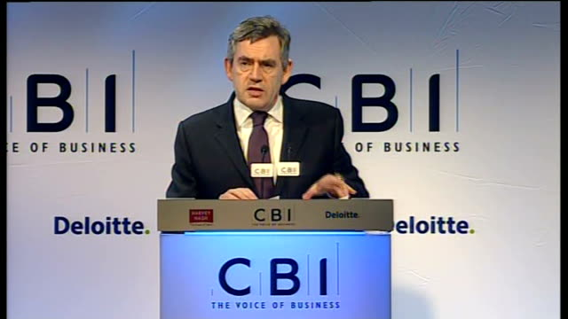 gordon brown speech england london photography *** gordon brown mp along to podium with martin broughton gordon brown mp speech sot president... - new age stock videos & royalty-free footage