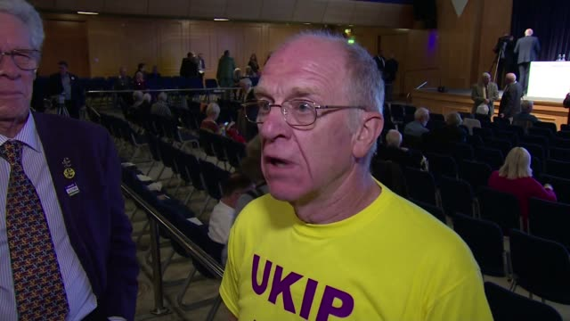 Conference / Henry Bolton elected as new leader Torquay UKIP Conference INT Vox pop/ Neil Hamilton AM interview SOT
