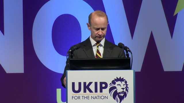 Henry Bolton speech ENGLAND Devon Torquay INT Henry Bolton speech SOT re general election / Brexit / no transition / securing borders