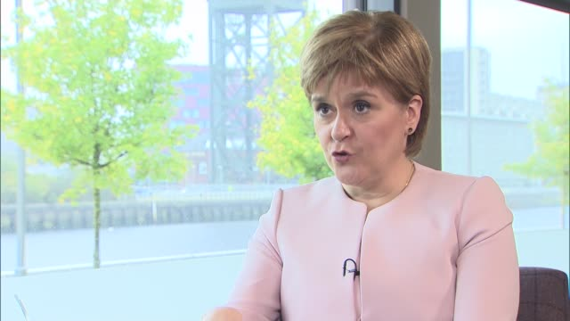 nicola sturgeon interview scotland glasgow int nicola sturgeon msp interview sot on brexit negotiations and possibility of second scottish... - referendum stock videos and b-roll footage