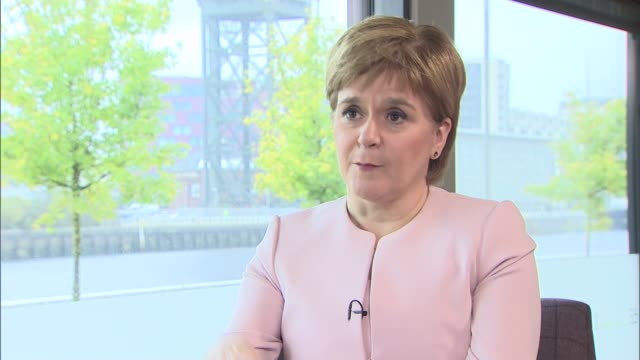 nicola sturgeon interview scotland glasgow int nicola sturgeon msp interview sot on brexit negotiations / her view on a second scottish independence... - referendum stock videos and b-roll footage