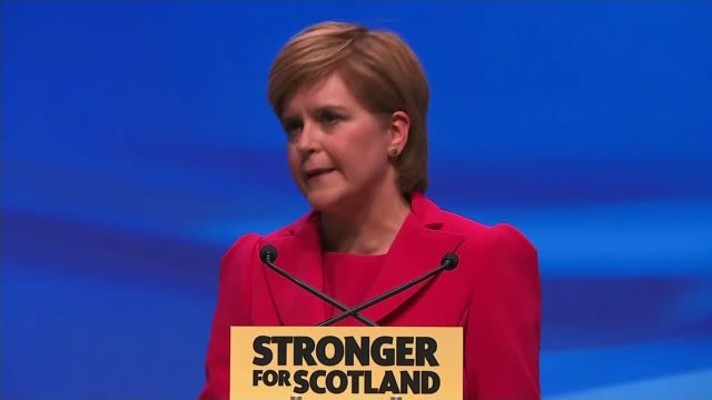 nicola sturgeon speech; nicola sturgeon msp speech sot - we will propose new powers to help keep scotland in the single market, even if the uk leaves... - no doubt band stock videos & royalty-free footage