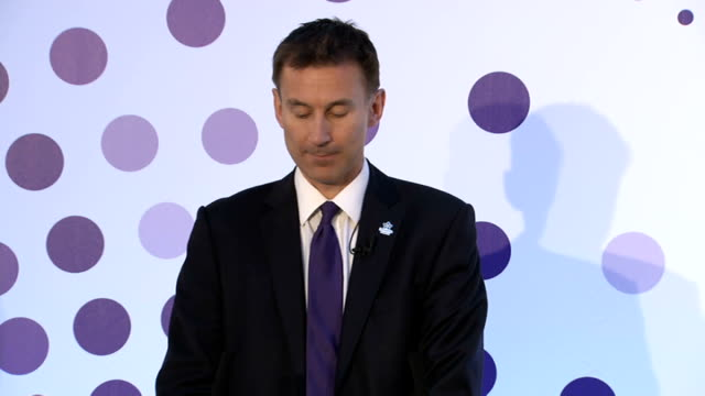 jeremy hunt speech england london lancaster house int jeremy hunt mp along to podium / jeremy hunt mp speech sot it is fantastic to see you all here... - hiv aids conference stock videos & royalty-free footage