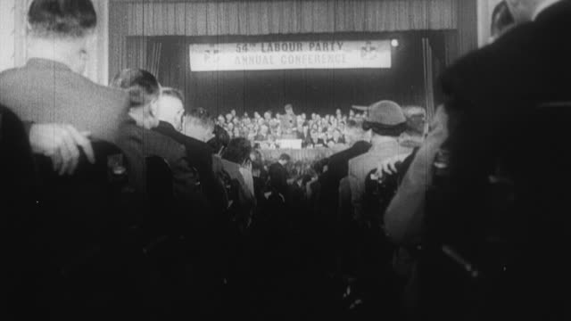 1960 b/w conferences during a national election / london, england, united kingdom - general election stock videos & royalty-free footage
