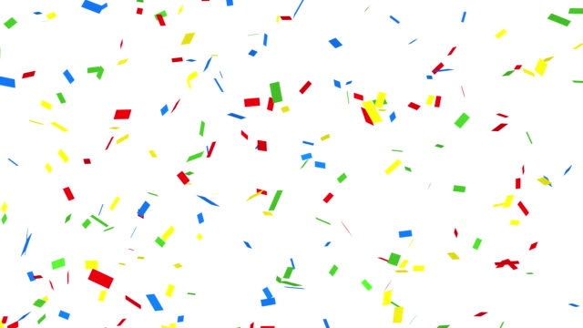 confetti - alpha channel - confetti stock videos & royalty-free footage