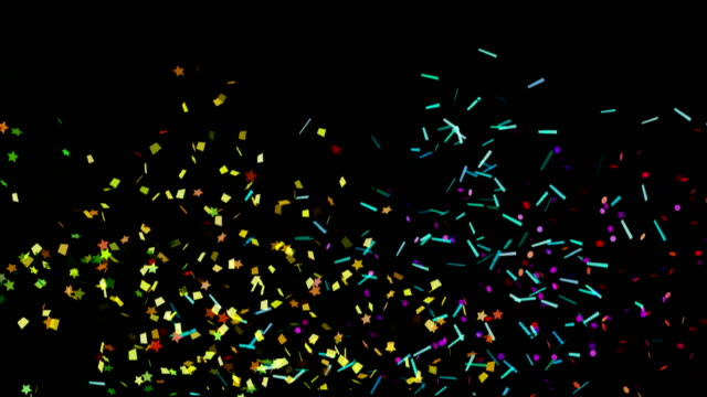 4k confetti backgrounds luma matte - group of objects stock videos & royalty-free footage