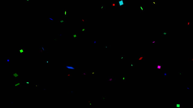 confetti colorful background with alpha matte channel - confetti stock videos & royalty-free footage