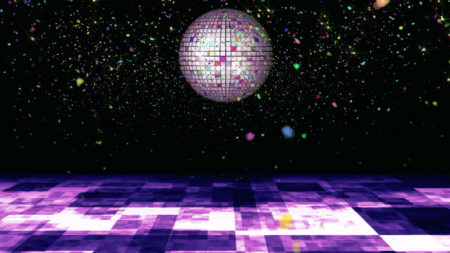 confetti disco - dance floor stock videos and b-roll footage