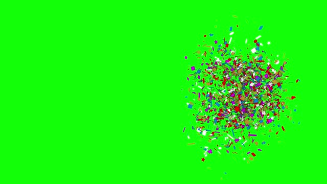 confetti explosion, loopable colorful party celebration confetti (series) - confetti stock videos & royalty-free footage