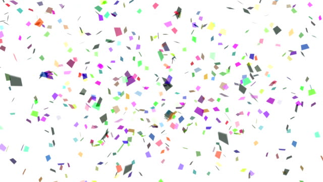 confetti explosion multicolor - vitality stock videos & royalty-free footage