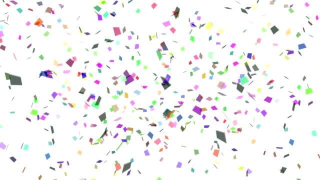 vídeos de stock, filmes e b-roll de confete explosão multicolor - confete