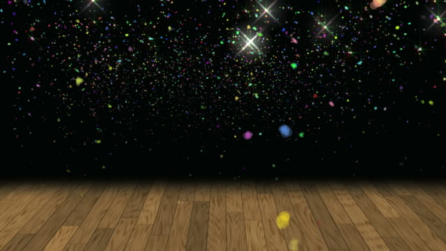 confetti glitter background loop - dance floor stock videos and b-roll footage